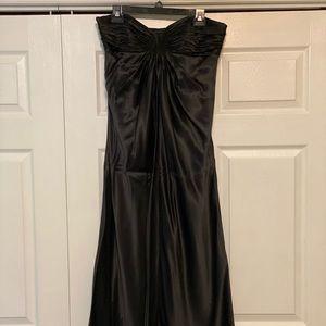 LAUNDRY Strapless Black Full Length Dress
